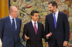 El Rey Juan Carlos de España, Enrique Peña Nieto y el Príncipe Felipe, un trío muy divertido