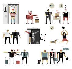 Romualdo Faura / Illustrations for the Numerology section of   Fast Company magazine. (USA)