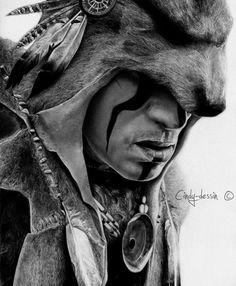 Assassin's Creed III - Ratonhnhake:ton by cindy-drawings on DeviantArt Native American Tattoos, Native Tattoos, Native American Art, American Indians, Western Tattoos, Tattoo Indio, Tattoo No Peito, Assassins Creed Art, Foto Transfer