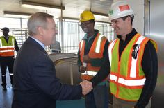 Stopped by 95th Street at CTA Station today for the start of its reconstruction that will lead to easier & safer travel