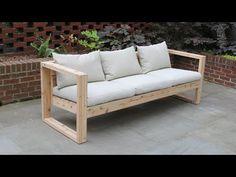 Modern Outdoor Sofas, Ikea Outdoor, Outdoor Couch, Modern Patio, Modern Sofa, Patio Loveseat, Garden Sofa, Wood Sofa, Diy Sofa
