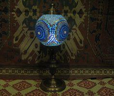 Blue floor lamp lampe mosaique moroccan lantern big lamp türkische lampen 010 #Handmade #Moroccan