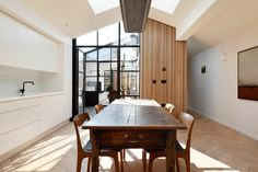 Find your ideal home design pro on designfor-me.com - get matched and see who's interested in your home project. Click image to see more inspiration from our design pros Design by Alex, architect from Southwark, London #architecture #homedesign #modernhomes #homeinspiration #selfbuilds #selfbuildinspiration #selfbuildideas #granddesigns Timber Garage, Decoracion Vintage Chic, Two Bedroom House, Herringbone Wood Floor, Casa Patio, Light Hardwood Floors, Small Sheds, Kitchens And Bedrooms, London House