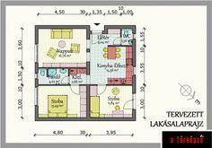 Kockaház. Megunhatatlan téma, újra és újra előkerül... Interior Ideas, Tiny House, House Plans, New Homes, Floor Plans, How To Plan, Houses, Tiny Houses, House Floor Plans