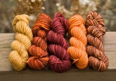 great color scheme for some natural dyeing...!
