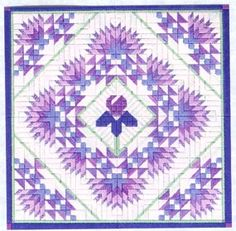 Iris and Fans Quilt