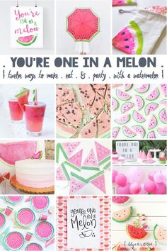 lily&Bloom . yOu're One in a melOn . { twelve lovely ideas to make . eat . & . party . with a watermelOn } .