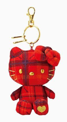 HK |❣| HELLO KITTY 40th Anniversary Plaid Keychain