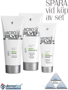 Microsilver Plus Body Set. 75 ml. 200 ml. 200 ml Lr Beauty, Body, Shampoo, Personal Care, Bottle, Health, Self Care, Health Care, Personal Hygiene