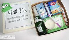 """Blumis kreativ Blog: """"Wenn-Box"""" als Geschenk für meine liebe Freundin zur Geburt ihrer Tochter"""