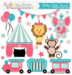 Circus Train Clip Art Baby Girl Circus Clipart