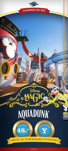 Disney Cruise Line Planning Pins | Disney Magic: AquaDunk