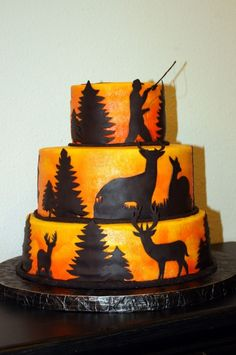 Deer hunting sheet cake My Cakes Pinterest Cake Birthdays and