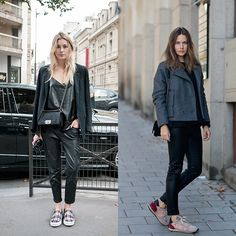 STREET STYLE: Statement Sneakers #sneakers #streetstyle #athleisure #MODESPORTIF