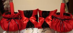 SALE PRICED:   2 Custom Flower Girl Baskets and  2 Ring Pillows YOUR Colors  #Unbranded