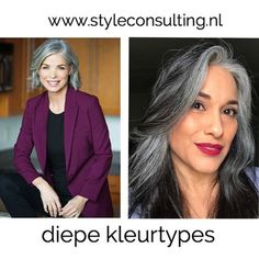 Hoe draag je wit als diep kleurtype? Color Type, Colour, Seasonal Color Analysis, Color Me Beautiful, Street Style Trends, Grey Hair, Season Colors, Lace Tops, Fashion Looks