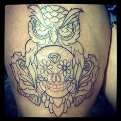 #Buho #Tattoo #OwlTattoo #TattooBoy #Instagram #Tattooed #Inked #Ink #Dgn # Tatuajes #Tatuadas  Black Cadillac Tattoo Studio.