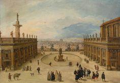 A View of the Campidoglio, Rome.