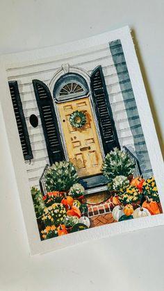 Watercolor Scenery, Watercolor Artwork, Watercolor Illustration, Jellyfish Painting, Art Diary, Autumn Art, Marker Art, Watercolor Techniques, Fall Crafts