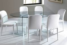 Form Dining - Elliptical from Viva Modern. Oval Glass Dining Table, Modern Furniture, Furniture Design, Dining Chairs, Dining Room, Clear Glass, Home Decor, Small Dining Rooms, Decoration Home