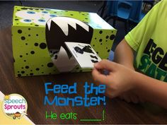 This Monster Eats Bats, Cats and Rats! Be careful, he bites too! Teaching Final blends and Plurals Preschool Speech Therapy, Articulation Therapy, Language Activities, Sight Word Activities, Speech Language Pathology, Speech And Language, Teaching Special Education, Language Development, Phonics