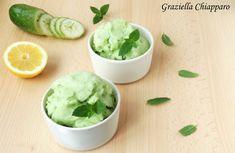 Sorbetto+cremoso+con+cetriolo,+limone+e+menta+|+Ricetta