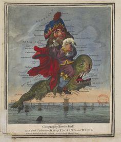Cartes satiriques à travers l'histoire carte satire map caricature 10