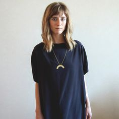 sunset hammered brass necklace   Shop Anomie