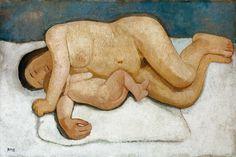 Paula Modersohn-Becker (18767-1907) - Mother and Child Reclining