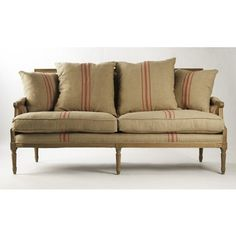 Louis Sofa 1095. zentique - for foyer with mirror above and wine crate lighting above