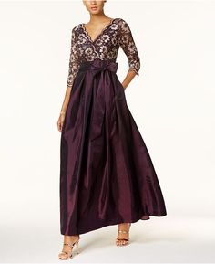 Jessica Howard Sequined Lace A-Line Gown Women - Dresses - Macy's Long Mothers Dress, Mothers Dresses, Mother Of Groom Outfits, Mother Of The Bride, Mob Dresses, Bridesmaid Dresses, Wedding Dresses, Bride Dresses, Tunic Dresses