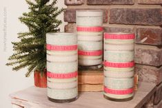 christmas martha stewart washi tape candles