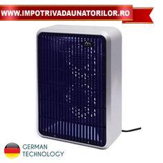 Aparat anti insecte cu lampi UV si ventilator pentru atragerea si combaterea insectelor zburatoare.