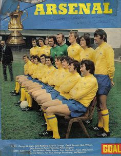 English Leagues the Arsenal The Double Year 1970 1971 Arsenal Goal, Arsenal Players, Arsenal Football, Football Soccer, Football Casuals, English Football Teams, Charlie George, London Football, George Armstrong