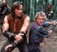 Hercules (Kevin Sorbo) Iolaus (Michael Hurst)  Hercules: The Legendary Journeys was a 60 minute fantasy series that aired in syndication. Hercules was the son of the God Zeus and a mortal woman. Zeus's wife Hera, upset over Zeus' indiscretion, causes Hercules to go mad and she also killed his wife and children. After regaining his sanity, Hercules decided to use his super strength to help mortals. He was often aided by his friend Iolaus.