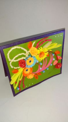 90 best paper magic neha creations images on pinterest in greeting card quilled flower bunch paper magicbunch m4hsunfo