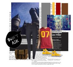 """""""Quidditch"""" by e-junkbin ❤ liked on Polyvore featuring Converse, DamnDog, harrypotter and quidditch"""