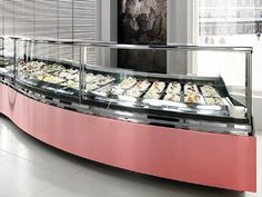 Refrigerated counter display case / ice cream / for shops DIAMOND Oscartek