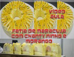 MOUSSE DE MARACUJA COM CHANTY NINHO E MORANGOS