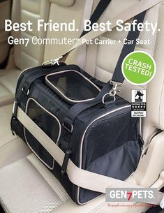 Crash tested and rated by The Center for Pet Safety, the Commuter Pet Carrier & Car Seat, provides comfort and security while on the go.