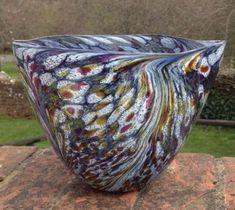 Featherspray Aurora bowl, 19.5 cm diameter at top, 15 cm high