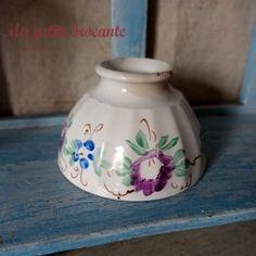 Petit bol ancien en porcelaine décor peint à la main