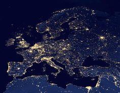 Europe at night taken by the Suomi NPP satellite