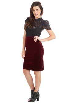 Inspire Yourself Skirt in Merlot, #ModCloth