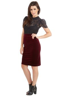 Inspire Yourself Skirt in Merlot | Mod Retro Vintage Skirts | ModCloth.com