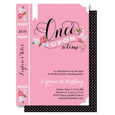 Story Book Birthday Party Invitations by DelightPaperie on Etsy, $20.00