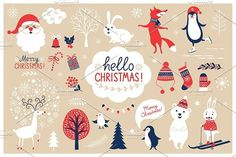 Christmas Characters Set by lenlis on @creativemarket