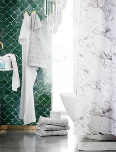72x72/'/' salle de bains imperméable rideau de douche lumineux Écailles Rose et Bleu Couleurs