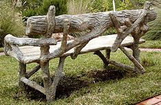 Image result for faux bois bench