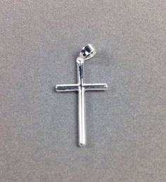 Silver CROSS Solid Sterling Silver .925 Pendant Rhodium plated CLASSIC NEW #GianniDeloroJewelry #Pendant